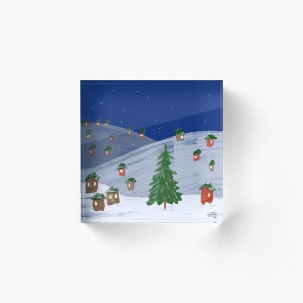Winter Town by VIXTOPHER Acrylic Block