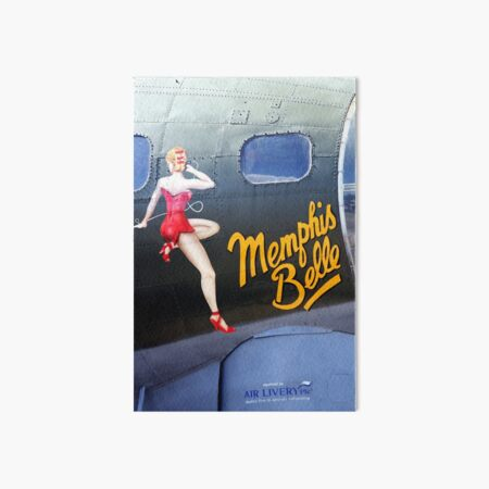 Memphis Belle Nose Art Art Board Print