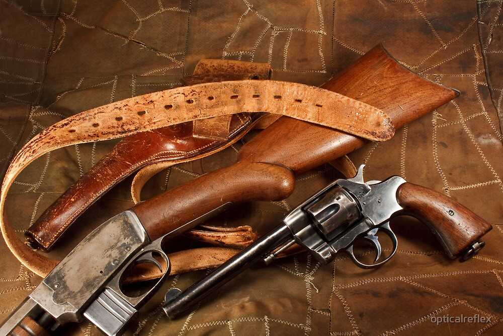 Pistol, Rifle, Holster and Belt by opticalreflex