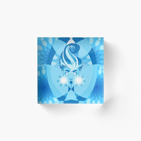 Blue Sunshine Acrylic Block