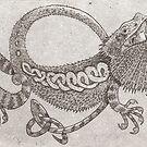 bearded dragon by SnakeArtist