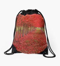 Spiritual Kloth Red Forestation by Kordial Orange Drawstring Bag