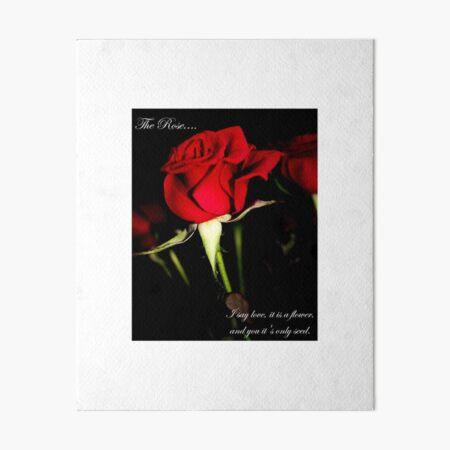 The Rose Art Board Print