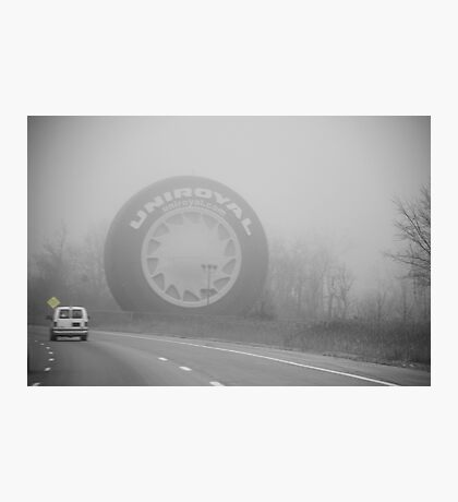 Foggy Uniroyal Tire... Photographic Print