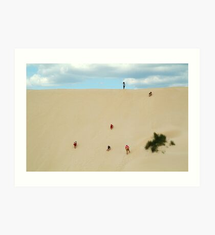 Dune Scramble,S.A. Art Print