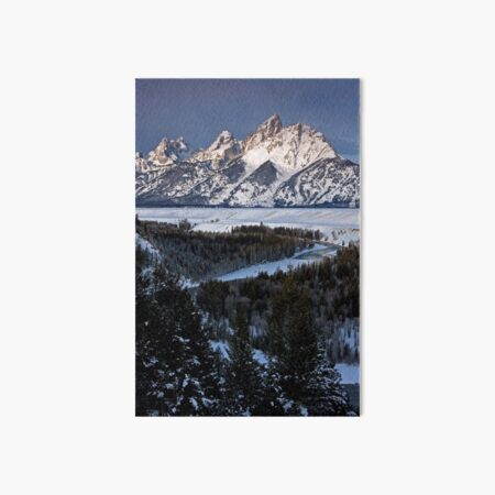 Snake River Overlook, Jackson Hole, Wyoming Art Board Print