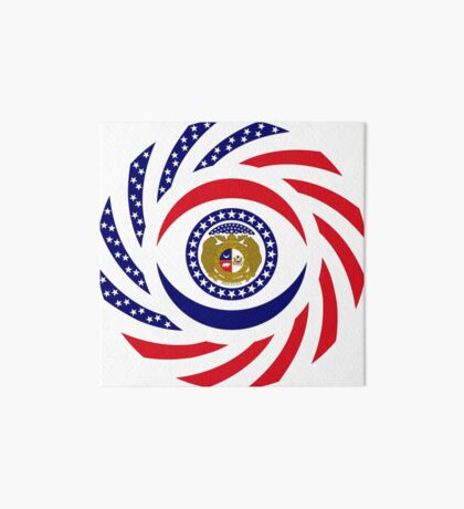 Missouri Murican Patriot Flag Series Art Board Print