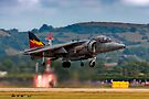 RAF Harrier GR9 hovering. by SWEEPER
