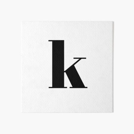 """k"" initials Art Board Print"