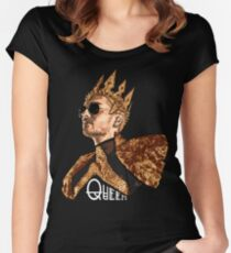 Queen Bill - White Text Women's Fitted Scoop T-Shirt