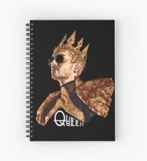 Queen Bill - White Text Spiral Notebook