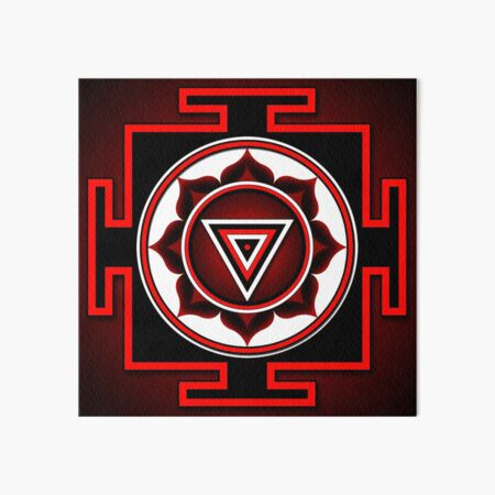 Indian symbol of Kali Yantra Art Board Print