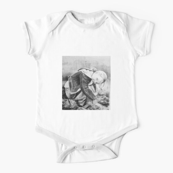 Cheeky - charcoal by Avril Thomas Short Sleeve Baby One-Piece