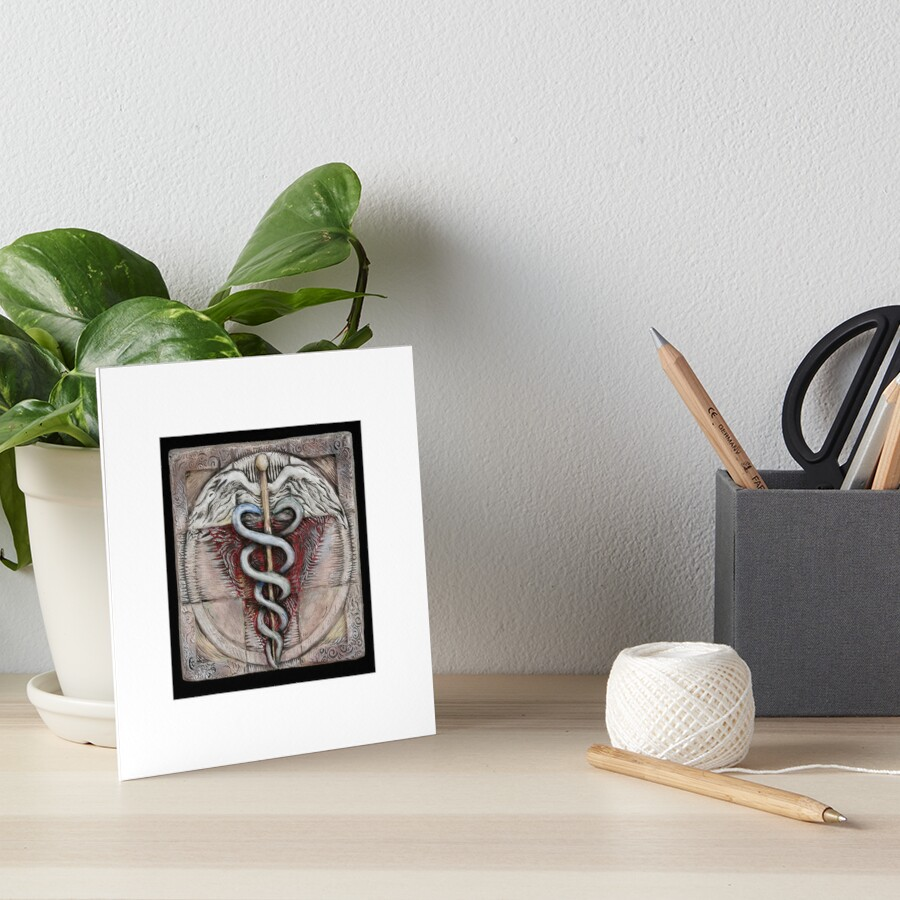 Spiral three: caduceus  Art Board Print