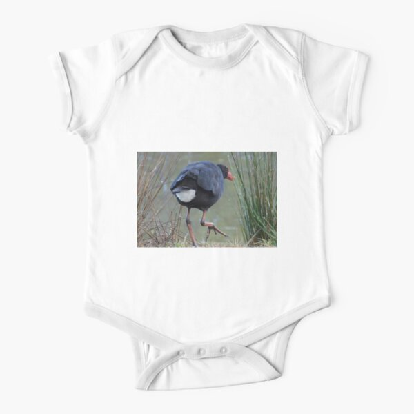 Moorhen by Avril Thomas Short Sleeve Baby One-Piece
