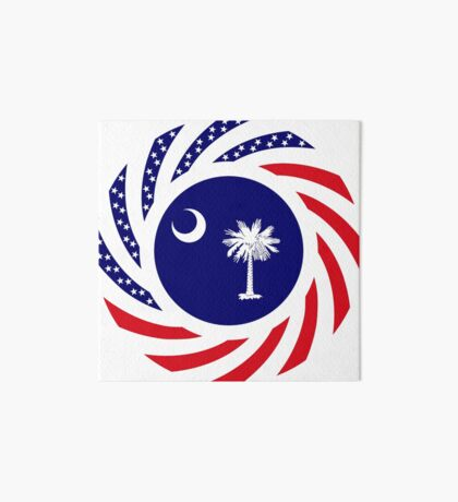 South Carolina Murican Patriot Flag Series Art Board Print