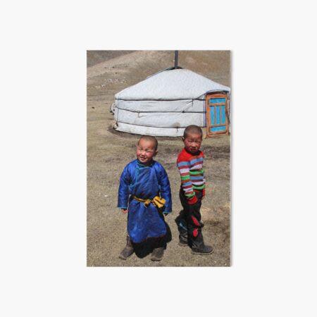 Mongolian children Art Board Print