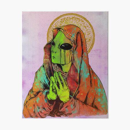Praying Alien Art Board Print