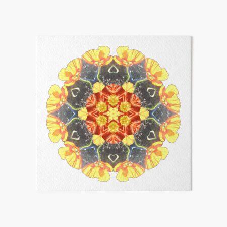 Ranunculus Love Mandala Art Board Print