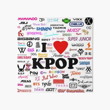 I <3 K-POP Art Board Print