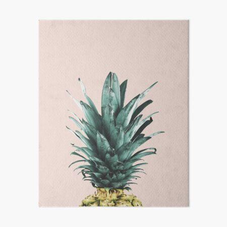 Pineapple on pink, Pineapple top, Minimal Art Board Print