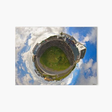 Tigh Ruairi - Inisheer Village (Sky out)  Art Board Print