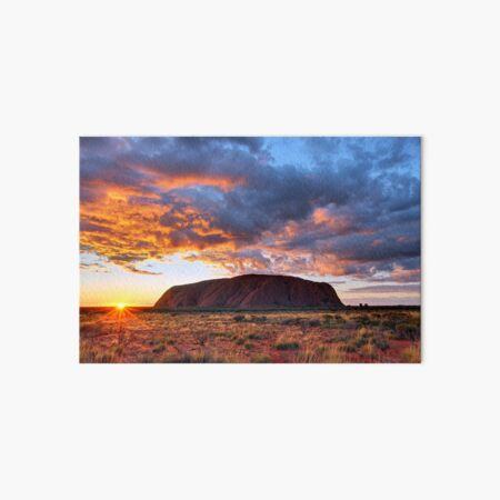 Ayers Rock (Uluru) Sunrise, Australia Art Board Print