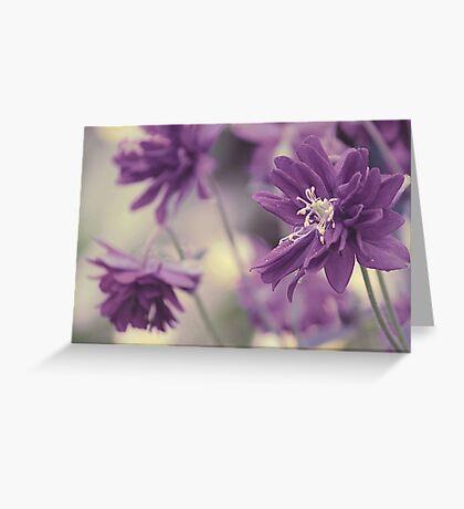 Vintage Purple Greeting Card