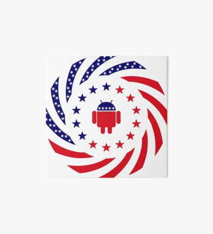 Android Murican Patriot Flag Series Art Board Print