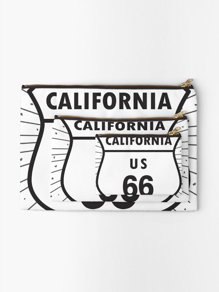 Alternate view of California route 66 Zipper Pouch
