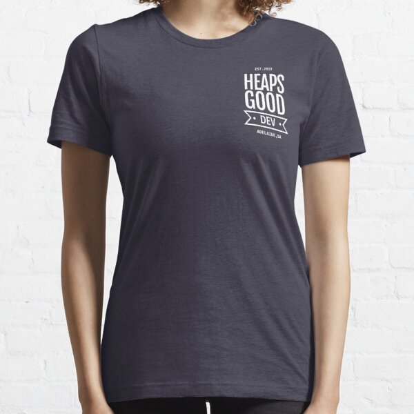 Heaps Good Dev Tee (Front Pocket - Navy) Essential T-Shirt
