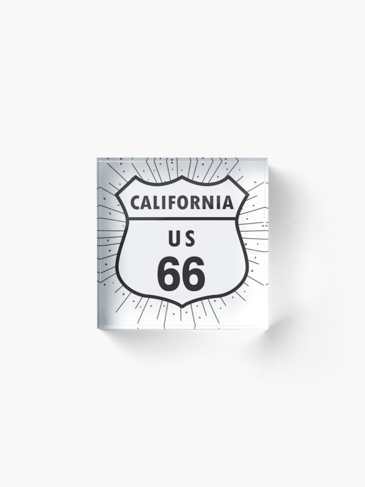 Alternate view of California route 66 Acrylic Block