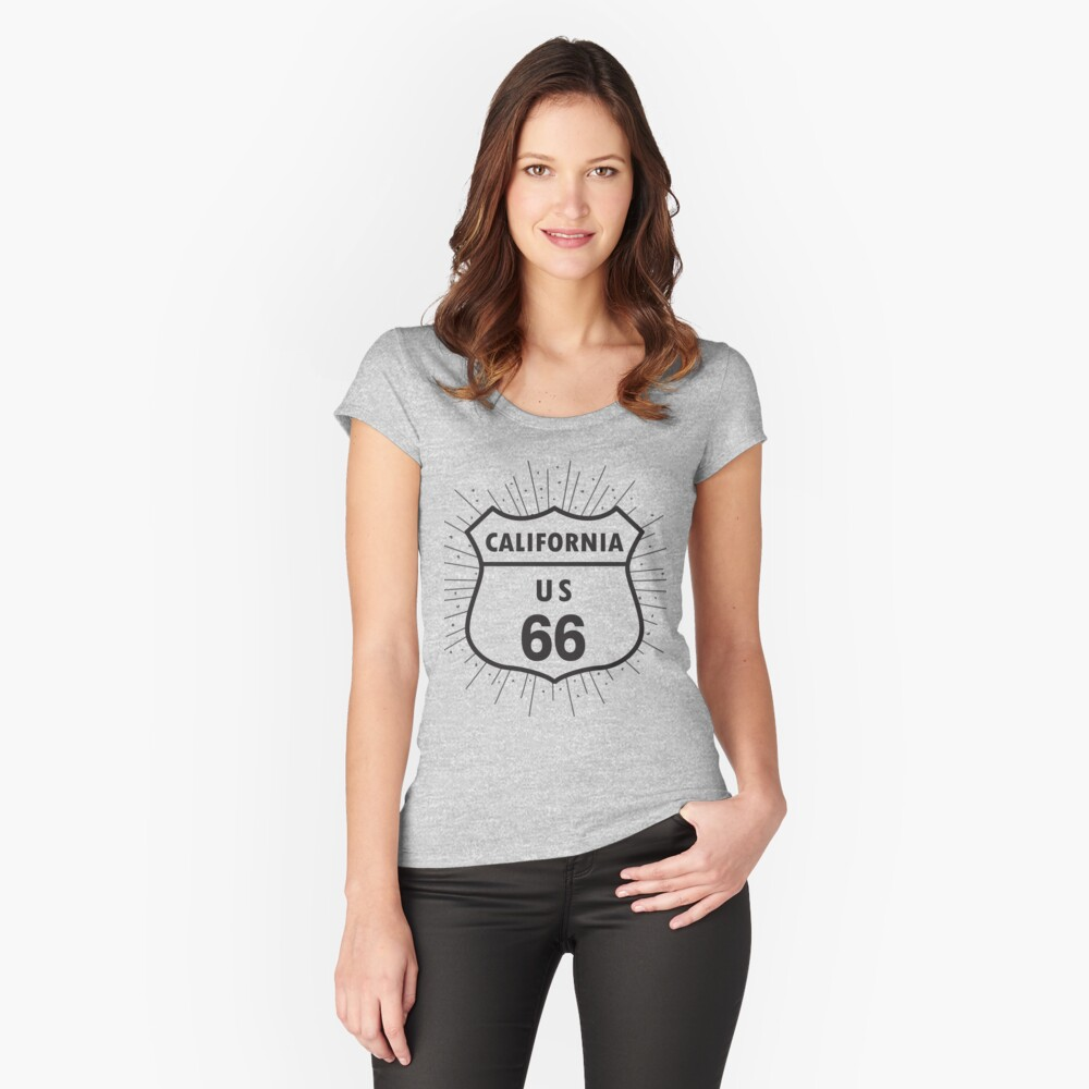 California route 66 Fitted Scoop T-Shirt
