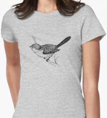 Vintage Bird Womens Fitted T-Shirt