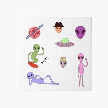 Cool aliens Art Board Print