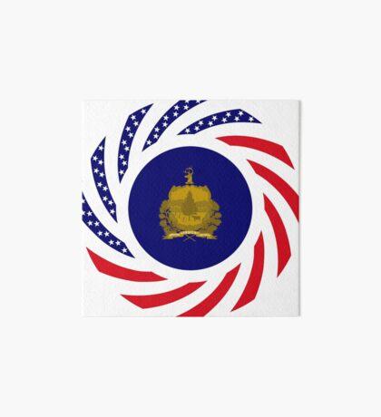 Vermont Murican Patriot Flag Series Art Board Print