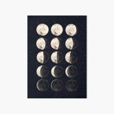 Moon Cycle Art Board Print