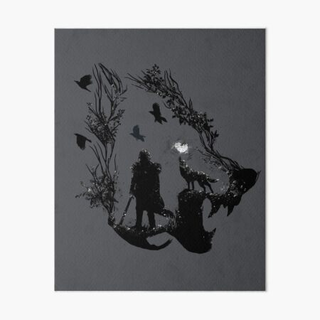 Lone Wolf Art Board Print