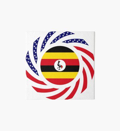 Ugandan American Multinational Patriot Flag Series Art Board Print