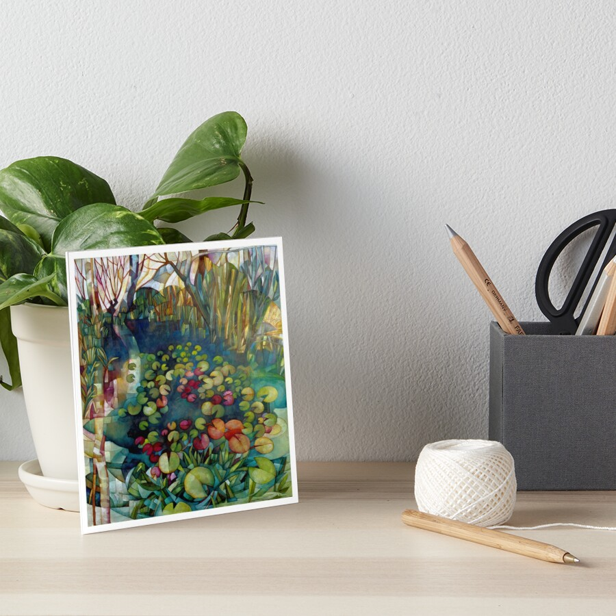 water lillies Art Board Print