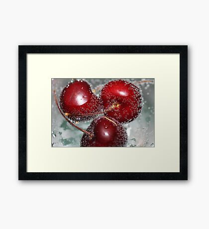 """""""Red Bubbles & Cherries Framed Print"""