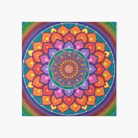 Lotus Rainbow Mandala Art Board Print
