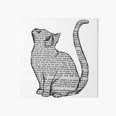 books and cats and books and cats Art Board Print