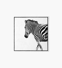Zebra Art Board Print