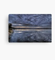 Two Ducks and a Long Jetty Canvas Print