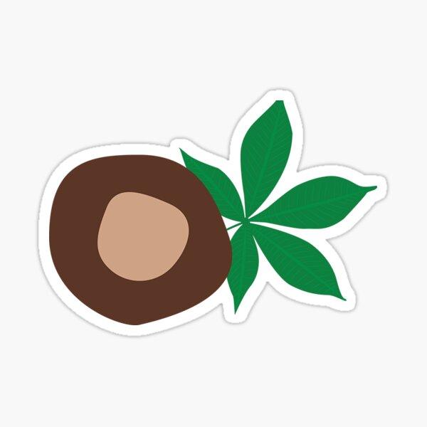 Buckeye With Leaf 2 Sticker