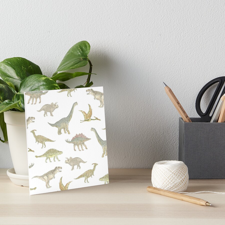 Dinosaur Pattern Art Board Print