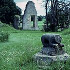 Ruins Jervaulx Abbey Scotland 19790626 0025  by Fred Mitchell