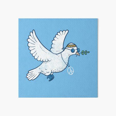 The Hippie Dove Art Board Print