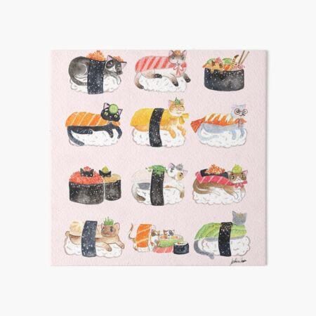 Nekozushi Art Board Print